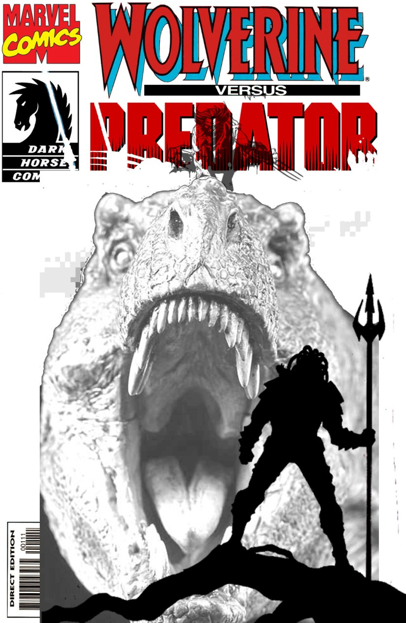 wolverine predator blank cover test avec taille comics oddities