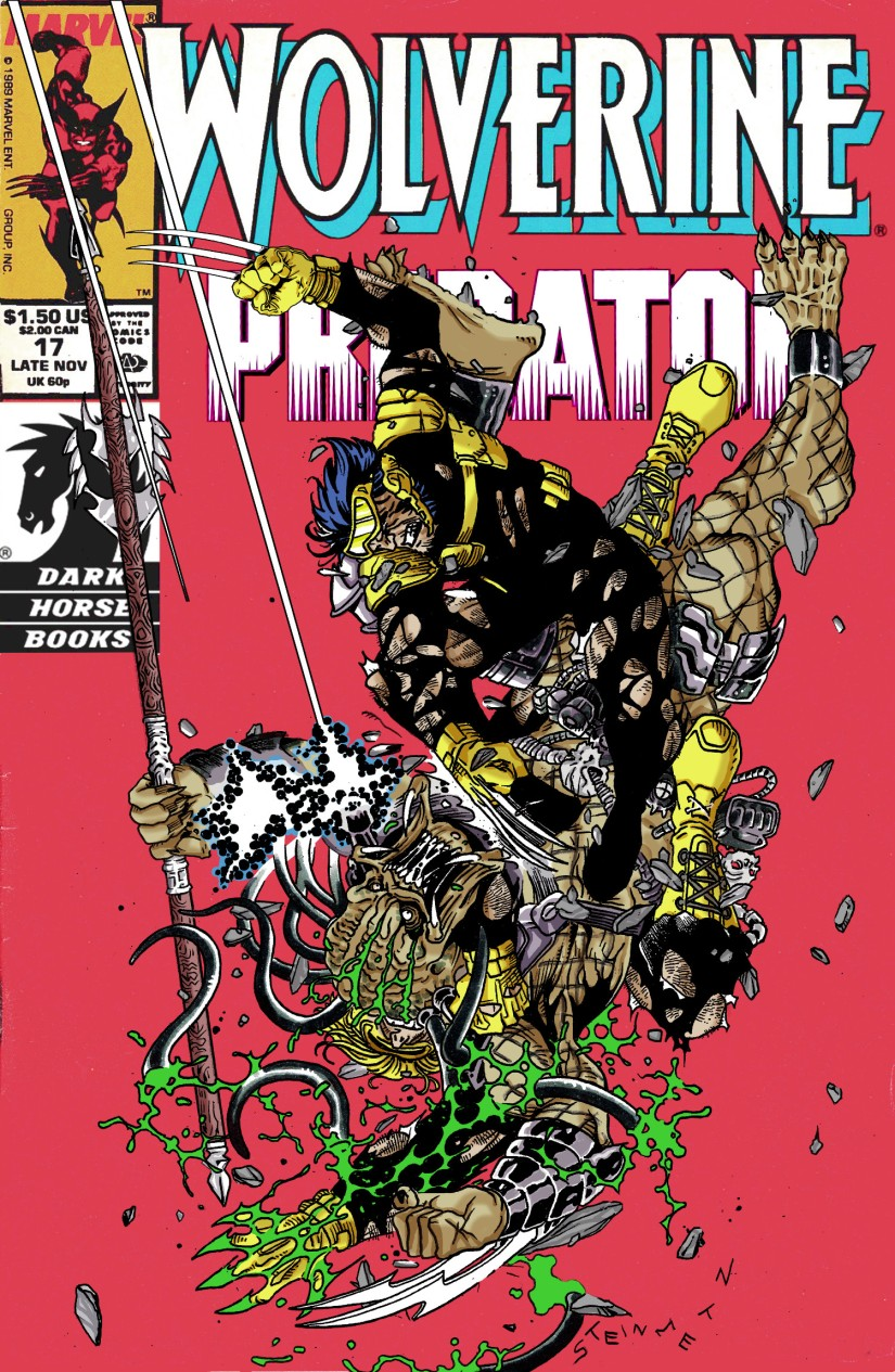 wolverine predator cover comics oddities